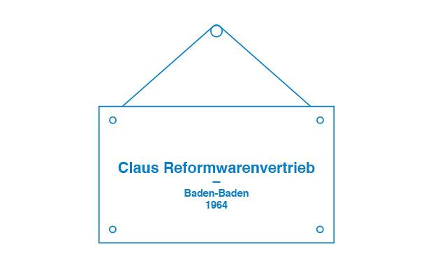 Gegründet wurde die Firma Claus Reformwarenvertrieb GmbH von Heinz und Sonja Claus 1964 in Baden-Baden. Es folgte der Aufbau des Reformwaren-Großhandels in Baden-Württemberg, besonders im Badischen Landesteil.